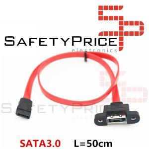 Cable de extensión SATA 7P macho a hembra panel montaje 50 cm