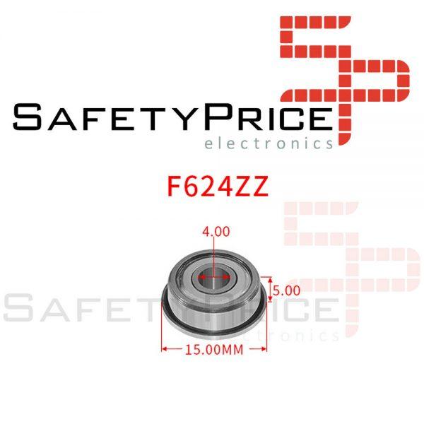 2x Rodamiento con Pestaña F624ZZ Cojinete Bolas Impresora 3D Reprap Prusa