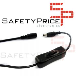 Interruptor de alimentación On/Off macho hembra 5.5x2.1mm DC 12v Tira LED CCTV