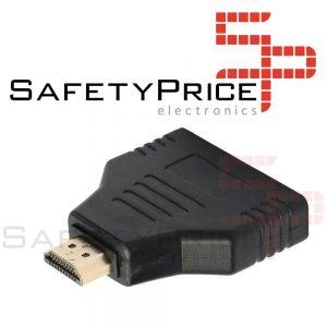 Convertidor Splitter HDMI macho a 2 HDMI hembra Divisor Doble Puerto Duplicador