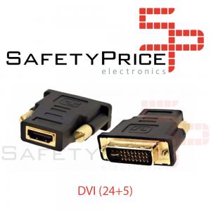 ADAPTADOR CONVERSOR HDMI HEMBRA A DVI MACHO (24+5)