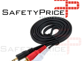 Cable Audio Estereo Mini Jack 3.5mm macho a 2 RCA macho 1,5 Metros MiniJack 2RCA