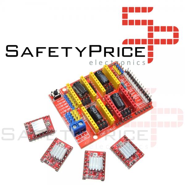 KIT CNC SHIELD Board v3 + UNO CH340 + 4x A4988 Stepstick Arduino Stepper Motor 3D Impresora
