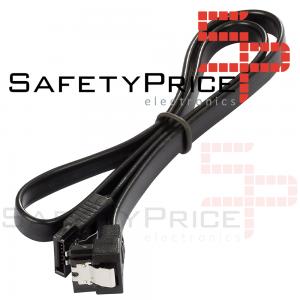 Cable de datos HDD SATA 3.0 6 Gbp/s ACODADO 90º 40 cm NEGRO