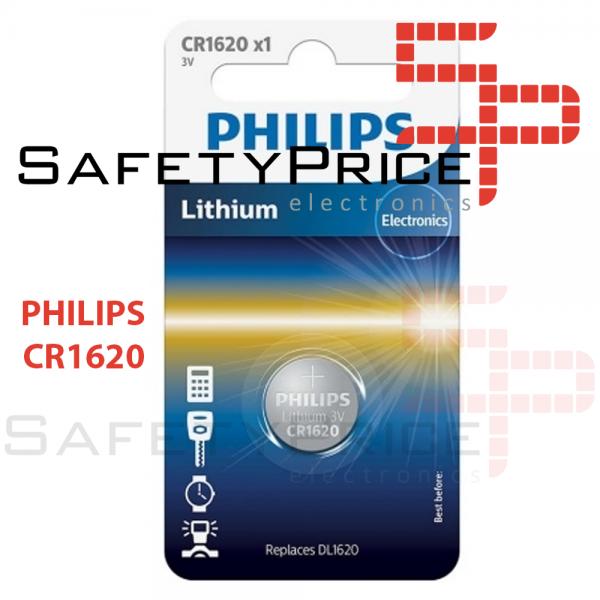 2x Pila de boton PHILIPS bateria original Litio CR1620 3V