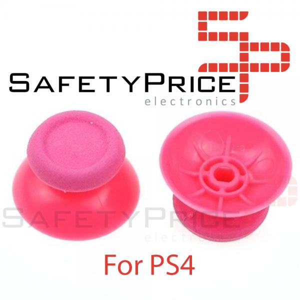 2x JOYSTICK PS4 PLAYSTATION 4 ANALOGICO MANDO THUMB STICK BOTONES R3 L3 ROSA