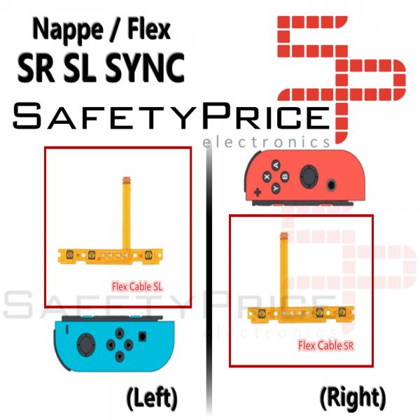 Cable flexible tecla botón SL interruptor Nintendo Switch JoyCon SYNC Flex Izquierda