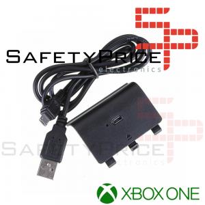 BATERIA RECARGABLE PARA MANDO XBOX ONE 2400 MAH INALAMBRICO NEGRO + CABLE MICRO USB