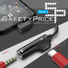 Adaptador USB-C 2 en 1 Tipo C a jack auriculares 3.5mm + carga PLATA