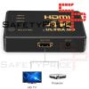 Conmutador HDMI 4K Switch 3 Puertos Selector de Splitter Hub IR Remoto Negro