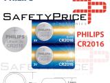 5x Pila de boton PHILIPS bateria original Litio CR2016 3V