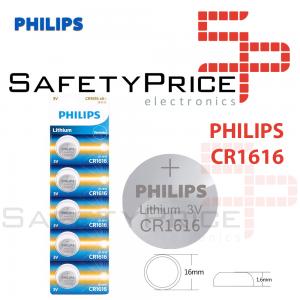 5x Pila de boton PHILIPS bateria original Litio CR1616 3V
