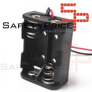 PORTAPILAS 2x 12V23A con cable alimentacion PCB battery holder