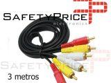 Cable RCA de audio/vídeo 3 RCA a 3 RCA