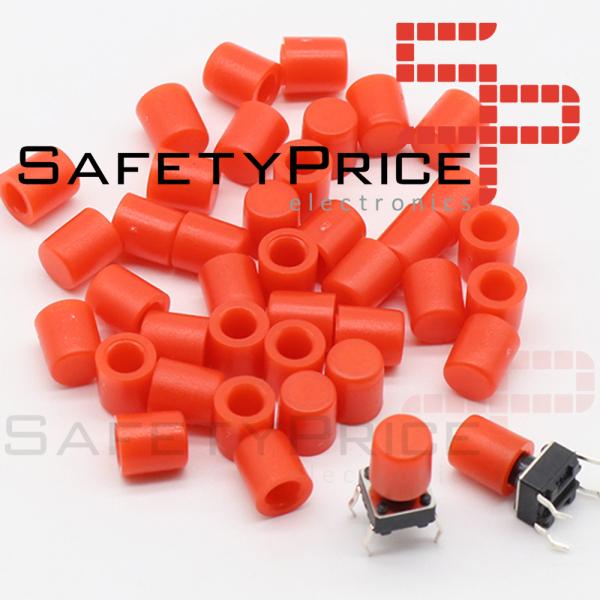 5x Tapon A56 Pulsador Tactil Micro interruptor 6*6 ROJO
