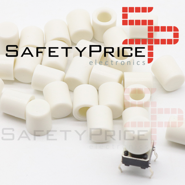 5x Tapon A56 Pulsador Tactil Micro interruptor 6*6 BLANCO