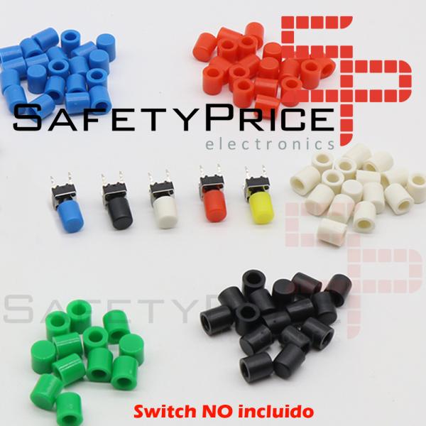 5x Tapon A56 Pulsador Tactil Micro interruptor 6*6 EN 5 COLORES