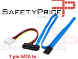 SFF-8482 7 Pin SATA Serial a SAS 29 Pines & cable de alimentacion de 4 pines molex 70cm