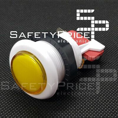 Pulsador arcade amarillo 33mm exterior 24mm interior recreativa bartop REF2043