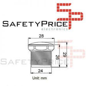 Tapon cubierta pulsador arcade 24-28 mm REF2048