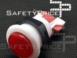Pulsador arcade rojo 33mm exterior 24mm interior recreativa bartop REF2041
