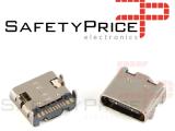 1x Conector SMD USB-3.1 Tipo-C hembra 16P clavijas fijas bidireccionales REF2046