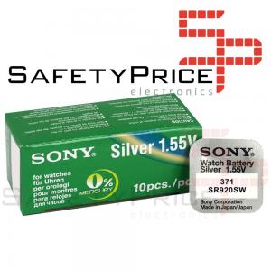 5x Pila Boton SONY Original 371 (sr920sw) 1,55V