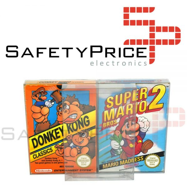 10x Funda protectora juegos con caja Nintendo NES REF2033