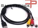 Cable adaptador USB Macho a 3 RCA Macho Divisor Audio Video AV Compuesto TV/Mac/PC REF2007