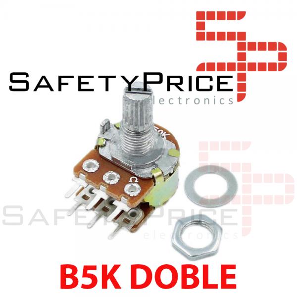 Potenciometro B5K lineal doble 5k OHM kΩ