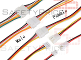 2x Pareja Cable conector XH 2.54mm macho y hembra 5 pin carga de batería JST 20CM 1007-26 AWG REF2070