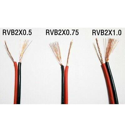 2x metro Cable alimentacion paralelo rojo negro RVB2X0.5MM