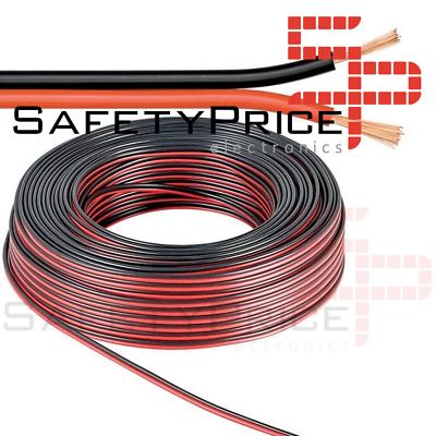 1x metro Cable alimentacion paralelo rojo negro RVB2X0.5MM