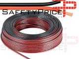 3x metro Cable alimentacion paralelo rojo negro RVB2X0.5MM