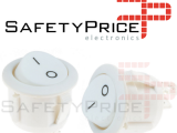 2x Interruptor ON OFF Redondo Blanco PANEL 220v 250v 10A empotrable boton REF2087