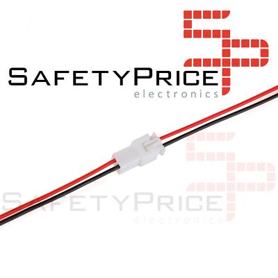 2x Pareja Cable conector XH 2.54mm macho y hembra 2 pin carga de batería JST 20CM 1007-26 AWG REF2067