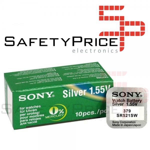 5x Pila Boton SONY Original 379 (SR521SW) 1,55V