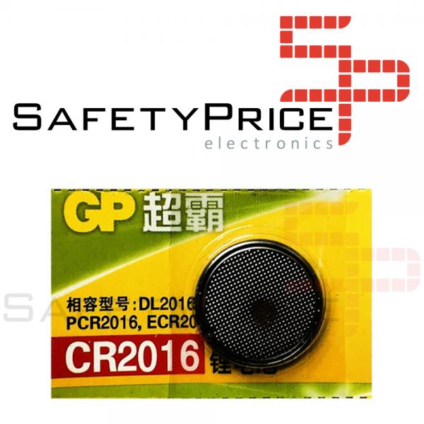 5x Pila de boton GP Speedmaster CR2016 3V
