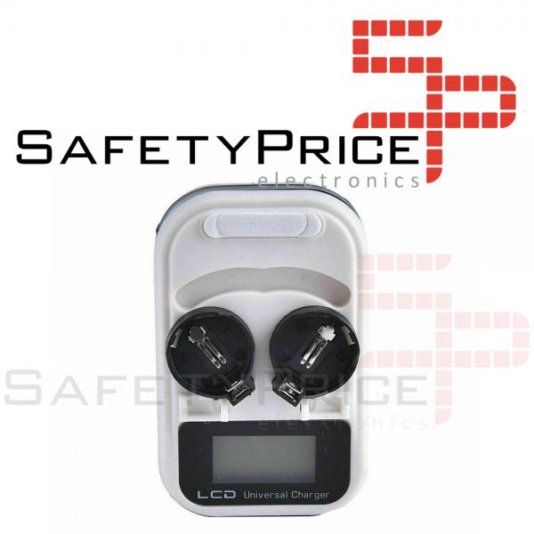 Cargador pilas de boton LCD LIR2032 LIR2025 LIR2016 REF2086