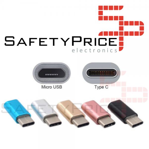 ADAPTADOR CABLE MICRO USB A TIPO C ROSA REF2056