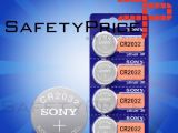2x Pila de boton SONY bateria original Litio CR2032 3V