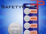 5x Pila de boton SONY bateria original Litio CR2032 3V