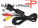 CABLE DE VIDEO PARA SONY PLAY STATION 1 2 3 PSX PS1 PS2 PS3 AV TV AUDIO RCA 3RCA ref2093