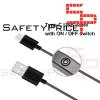 Cable de carga USB tipo C 1 m con interruptor de encendido / apagado para teléfono móvil Raspberry Pi 4 5V 3A