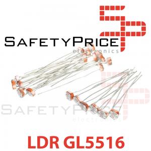 10x Foto Resistencia GL5516 Tipo LDR 10k 5mm