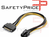 Cable alimentacion tarjeta grafica PCI Express 6 pines a 15-Pin SATA REF2117