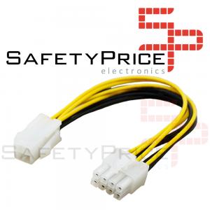 Cable Alimentacion adaptador CPU ATX 4 Pin a 8 pin 20 cm REF2119