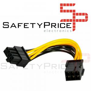 Cable extension alimentacion GPU PCI express 6 pin Hembra a 8 pines Macho REF2120