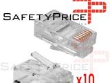 10x Conectores RJ45 CAT 5e para Cable de Red Ethernet Clavija Lan para Crimpadora