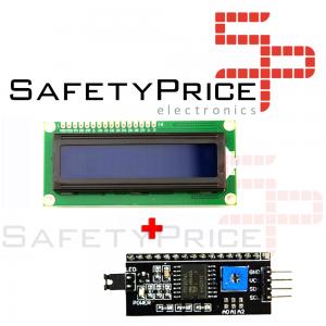 LCD 1602 Pantalla AZUL + adaptador IIC/I2C compatible arduino Display
